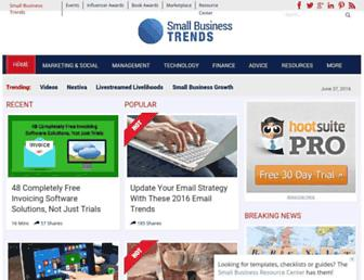 smallbiztrends.com screenshot