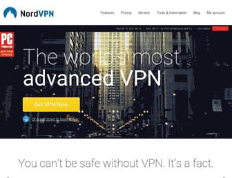 nordvpn.com screenshot
