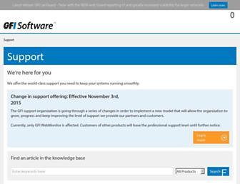 support.gfi.com screenshot