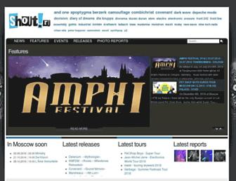 Main page screenshot of shout.ru