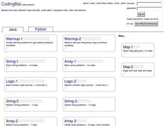codingbat.com screenshot