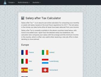 salaryaftertax.com screenshot
