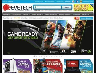 evetech.co.za screenshot