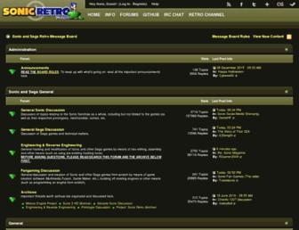 forums.sonicretro.org screenshot