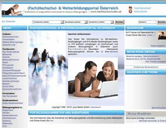 fachhochschulen.at screenshot