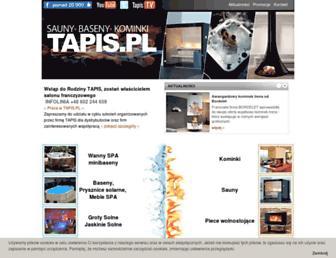 Main page screenshot of tapis.pl