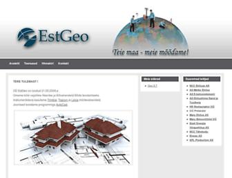 Main page screenshot of estgeo.ee