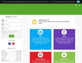 Main page screenshot of forumfree.it