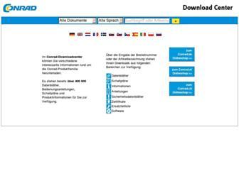 produktinfo.conrad.com screenshot