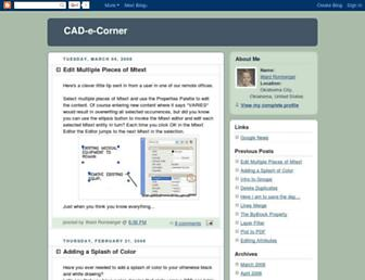 cadecorner.blogspot.com screenshot