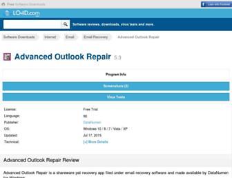 advanced-outlook-repair.en.lo4d.com screenshot