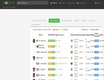 Thumbshot of Sofifa.com