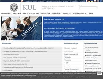 Main page screenshot of kul.pl