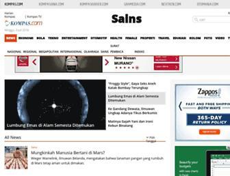 sains.kompas.com screenshot
