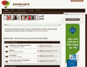 Main page screenshot of kaffee-netz.de