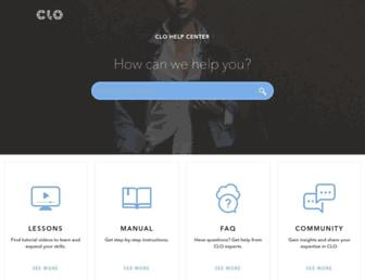 support.clo3d.com screenshot