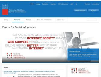 Main page screenshot of social-informatics.org