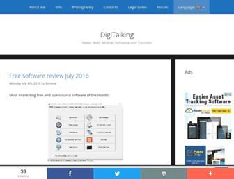 Main page screenshot of digitalking.it