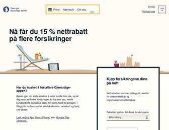 gjensidige.no screenshot