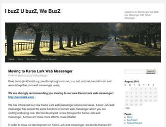Main page screenshot of blog.izuz.net