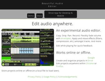 beautifulaudioeditor.appspot.com screenshot