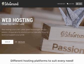 siteground.com screenshot