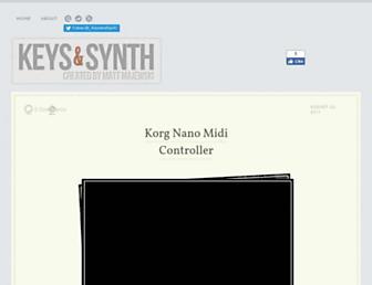 keysandsynth.com screenshot