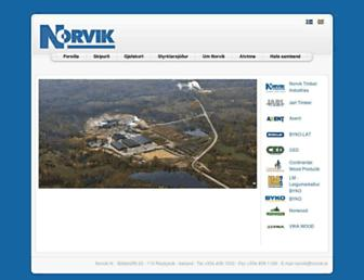 Main page screenshot of norvik.lv