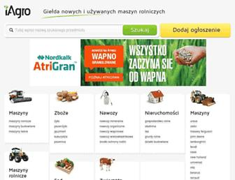 Main page screenshot of iagro.pl