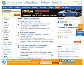 Thumbshot of Jobsandcareer.com