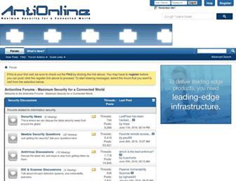antionline.com screenshot