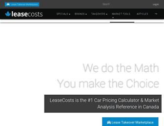 leasecosts.ca screenshot
