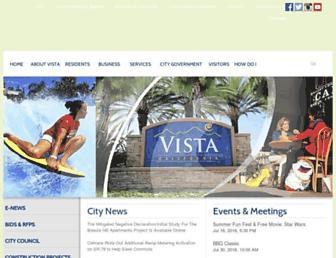 cityofvista.com screenshot
