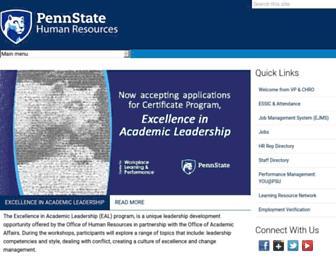 ohr.psu.edu screenshot