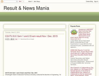 result-mania.blogspot.com screenshot
