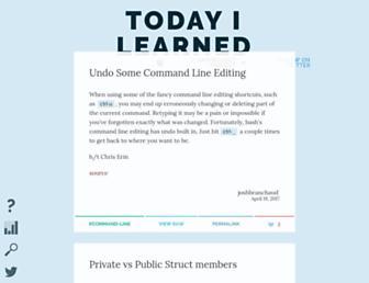 til.hashrocket.com screenshot