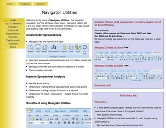 navigatorutilities.com screenshot