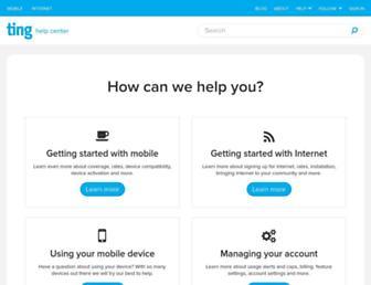 help.ting.com screenshot