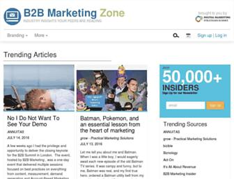 b2bmarketingzone.com screenshot