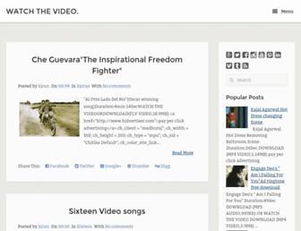 watchthe-video.blogspot.com screenshot