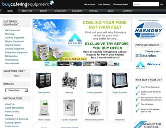Main page screenshot of buycateringequipment.co.uk