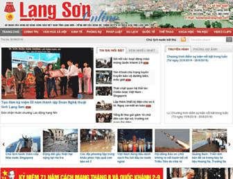 Main page screenshot of baolangson.vn