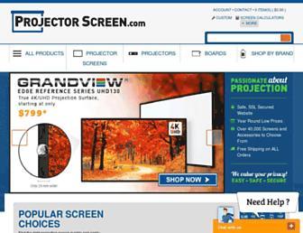 projectorscreen.com screenshot