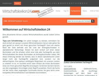 wirtschaftslexikon24.com screenshot