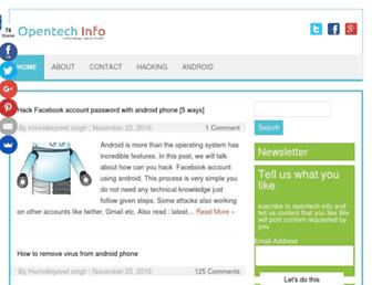opentechinfo.com screenshot
