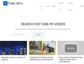 tuneinfo.pk screenshot