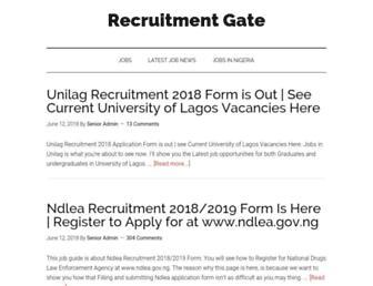 recruitmentgate.com screenshot