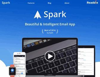 sparkmailapp.com screenshot