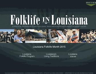 louisianafolklife.org screenshot