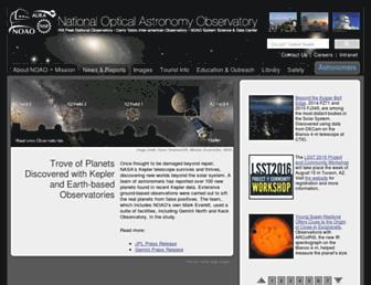 Main page screenshot of noao.edu